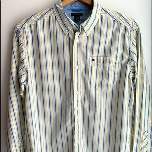 Tommy Hilfiger Yellow Striped Button Down Shirt